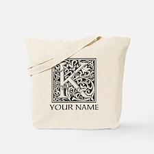 Custom Decorative Letter K Tote Bag