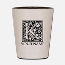 Custom Decorative Letter K Shot Glass