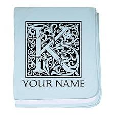 Custom Decorative Letter K baby blanket