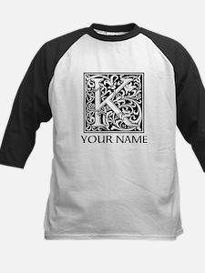 Custom Decorative Letter K Baseball Jersey