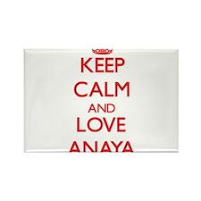 Keep Calm and Love Anaya Magnets