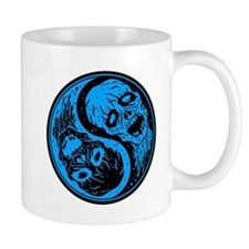 Blue and Black Yin Yang Zombies Mugs
