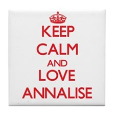Keep Calm and Love Annalise Tile Coaster