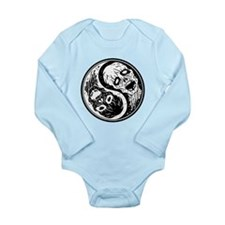 White and Black Yin Yang Zombies Body Suit