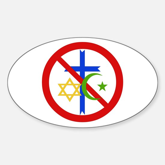 No Religion Decal