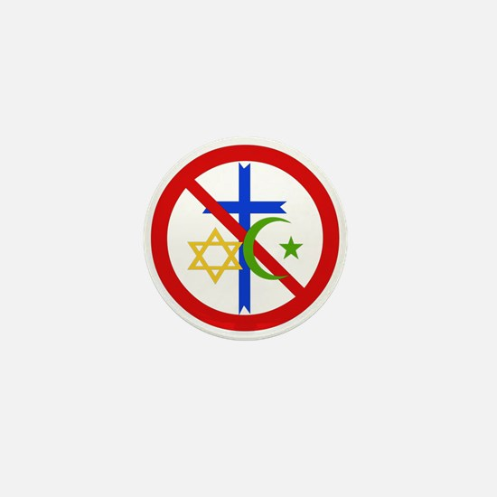 No Religion Mini Button