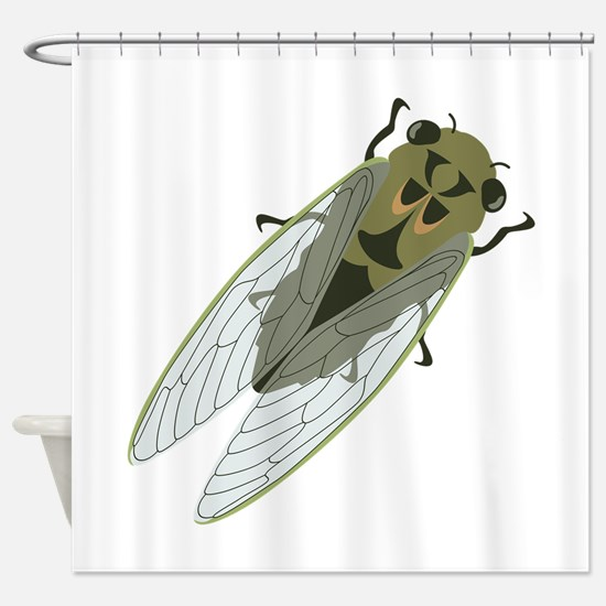 Cicadas Resting Shower Curtain