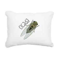 Cicada Rectangular Canvas Pillow