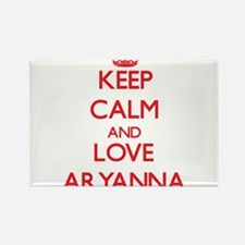 Keep Calm and Love Aryanna Magnets