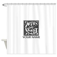 Custom Decorative Letter G Shower Curtain