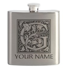 Custom Decorative Letter G Flask