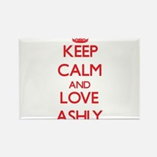 Keep Calm and Love Ashly Magnets