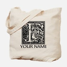 Custom Decorative Letter F Tote Bag