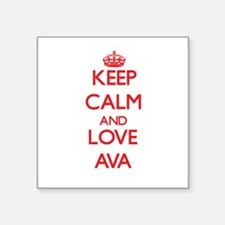 Keep Calm and Love Ava Sticker