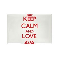 Keep Calm and Love Ava Magnets