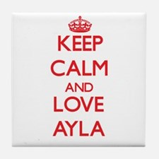 Keep Calm and Love Ayla Tile Coaster