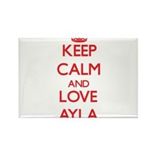 Keep Calm and Love Ayla Magnets