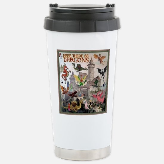 There Be Dragons Stainless Steel Travel Mug