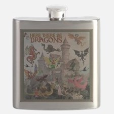 There Be Dragons Flask