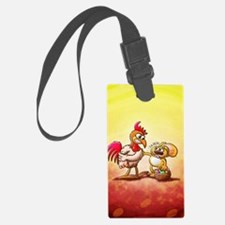 Easter Rabbit in trouble facing  Luggage Tag