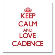 "Keep Calm and Love Cadence Square Car Magnet 3"" x"