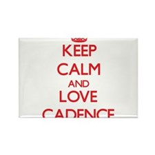 Keep Calm and Love Cadence Magnets