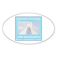 Citizen of Nuzizo Oval Decal