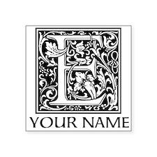 Custom Decorative Letter E Sticker