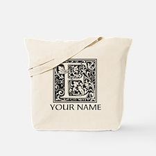Custom Decorative Letter E Tote Bag