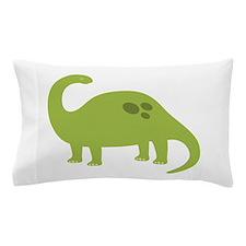 Green Brontosaurus Pillow Case