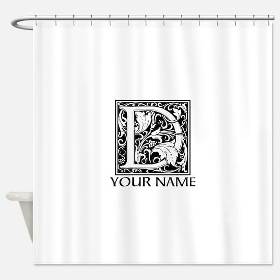 Custom Decorative Letter D Shower Curtain