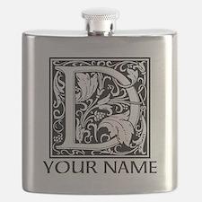 Custom Decorative Letter D Flask