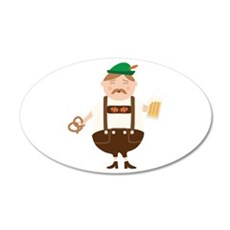 German Man Beer Germany Oktoberfest Wall Decal