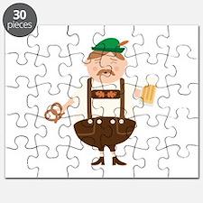 German Man Beer Germany Oktoberfest Puzzle