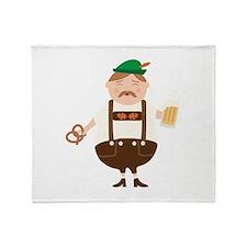 German Man Beer Germany Oktoberfest Throw Blanket