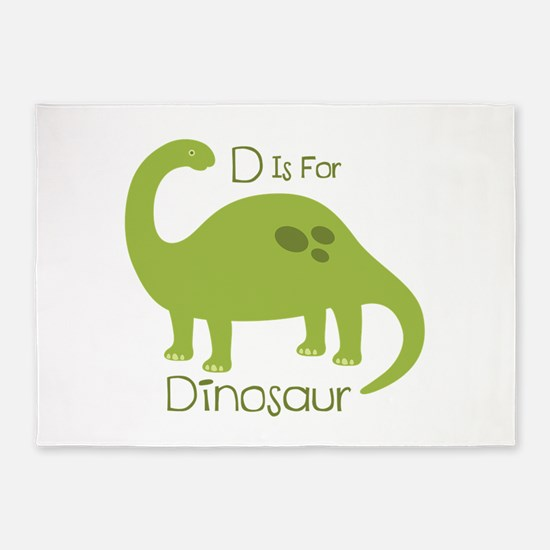 D Is For Dinosaur 5'x7'Area Rug