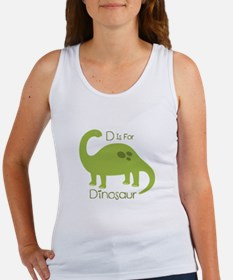 D Is For Dinosaur Tank Top