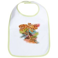 Orange Gold Dragonfly Splash Bib