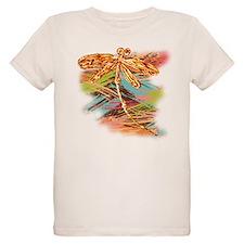 Orange Gold Dragonfly Splash T-Shirt