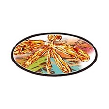 Orange Gold Dragonfly Splash Patches