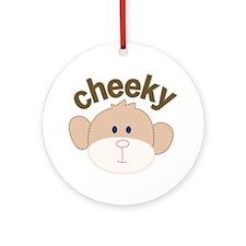 cheeky monkey Ornament (Round)