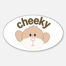 cheeky monkey Oval Decal