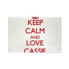 Keep Calm and Love Cassie Magnets