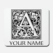 Custom Decorative Letter A Mousepad