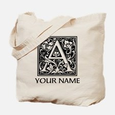Custom Decorative Letter A Tote Bag