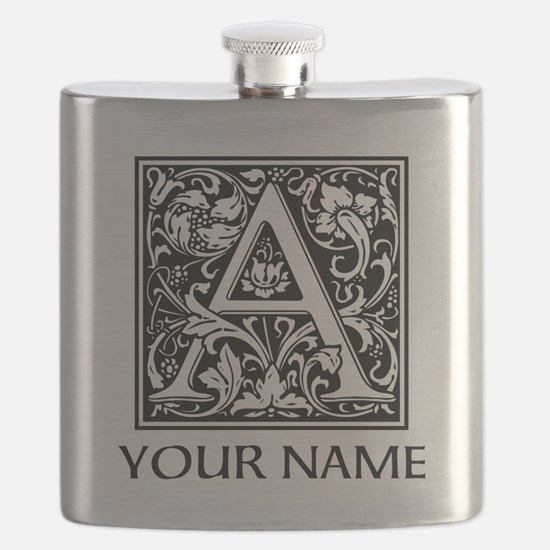 Custom Decorative Letter A Flask