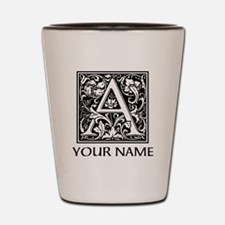 Custom Decorative Letter A Shot Glass