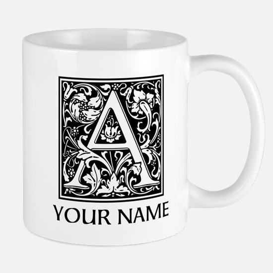 Custom Decorative Letter A Mugs