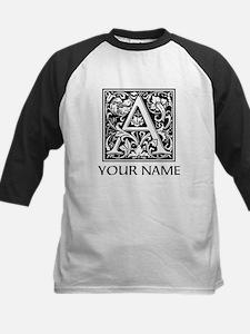 Custom Decorative Letter A Baseball Jersey