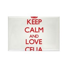 Keep Calm and Love Celia Magnets